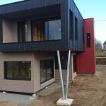 Extension zinc ultra moderne coloré (bois et zinc)